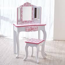 Childrens Vanity Desk Teamson Kids Fashion Prints Girls Vanity Table And Stool Set