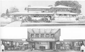 Prairie House Plans F L Wright Project For A Home In A Prairie Town 1901 Frank