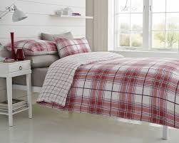 super king size bed duvet cover set ryde spice tartan check