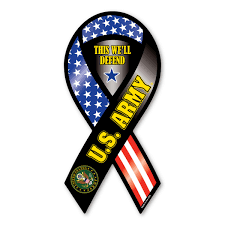Us Military Flags U S Army Ribbon Magnet This We U0027ll Defend
