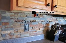 Natural Stone Backsplash Kitchen Backsplash Splashback - Slate kitchen backsplash
