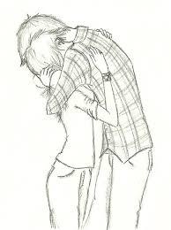 cute anime couple hugging sketch gallery shaded couple hug