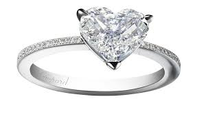 heart shaped diamond engagement ring forever pavé heart cut diamond engagement ring chopard the