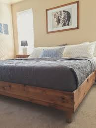 King Size Platform Bed Diy by Best 10 King Bed Frame Ideas On Pinterest Diy King Bed Frame