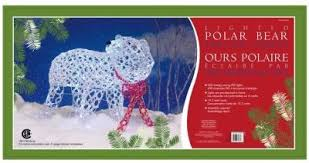 Lighted Polar Bear Christmas Decorations by Archived U2013 Led Lighted Polar Bear And Moose Outdoor Decorations