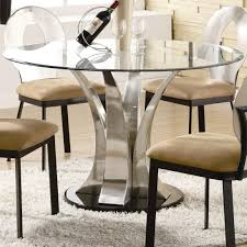 kitchen oval glass dining table set scandinavian expansive glass