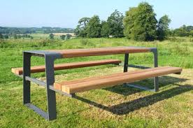 Wooden Picnic Tables With Separate Benches Wood Picnic Table Set Wood Picnic Table With Detached Benches Wood
