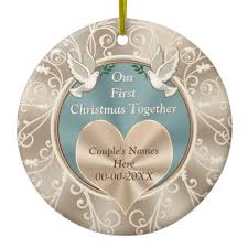 personalized our together ceramic ornament