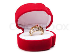 wedding ring in a box wedding ring in box stock photo colourbox