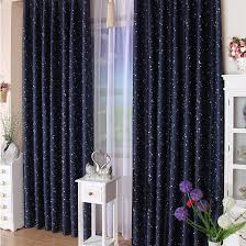 dark royal blue curtains for kids with polka dots and stars moons