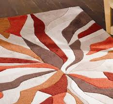 Orange Modern Rug Splinter Burnt Orange Rugs Modern Rugs
