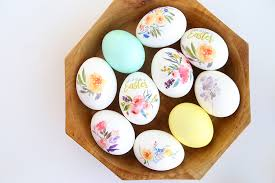how to make easter eggs beautiful floral easter eggs using tattoo paper it s always autumn
