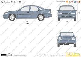 opel vectra 1995 the blueprints com vector drawing opel vectra b 4 door