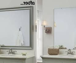 Hanging Bathroom Mirror by Hanging Bathroom Mirrors With Frame Beautiful Framing Bathroom
