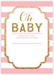 pink and gold baby shower invitations cloveranddot
