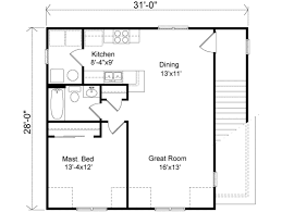 guest house floor plans traditional style house plan 1 beds 1 00 baths 868 sq ft plan