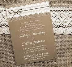 burlap wedding invitations 45 lace and burlap wedding invitations unitedarmy info