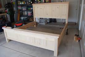 Farmhouse Bed Frame Plans Two Crafty Our Farmhouse Bed