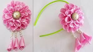 ribbon flowers diy for how to make kanzashi satin ribbon flower 8