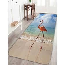 Flamingo Bathroom Home Decor Sales Floor Carpets Shower Curtains Window