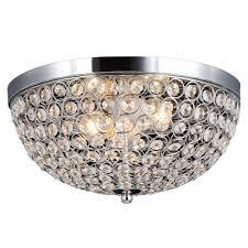 crystal home decor decor living 2 light chrome and crystal flushmount 105033 15 the