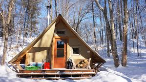 Small A Frame Cabins by 270 Sq Ft Off Grid Prospector Style Tent