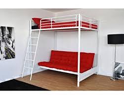 lit mezzanine avec canape lit mezzanine pour couchage 140x190 avec banquette mezza laqué