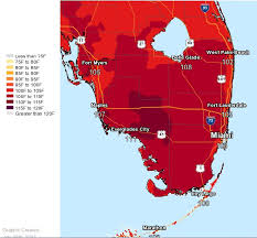 temperature map florida heat advisory for portions of south florida as feels like
