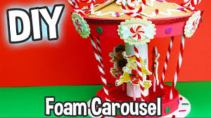 diy kids craft foam carousel kit cute easy holiday project youtube