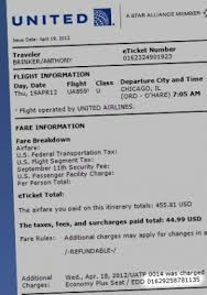 united airlines fees united airlines e ticket itinerary and receipt photo receiptz