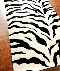 Brown Zebra Area Rug Sophisticated Brown Zebra Rug Shag Plush Brown And Ivory Zebra