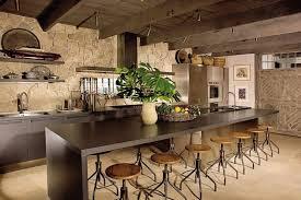 cuisine rustique et moderne design interieur cuisine rustique moderne plafond bois déco murale