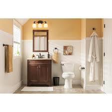 shop style selections delyse auburn integral single sink bathroom