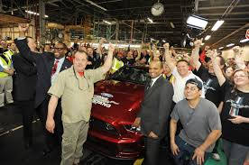 mustangs the rock 1 millionth mustang celebration at flat rock assembly plant