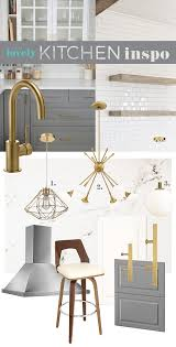 ikea kitchen design inspiration mood board diy brushed brass