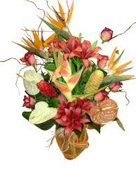 tropical flower arrangements tropical flower arrangement in a vase event flowers ny