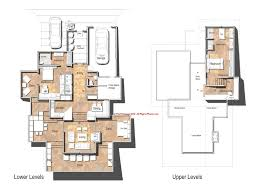 home designs floor plans modern single story hillside hoe plans pictures sloping house