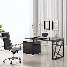 Bonvivo Designer Desk Massimo Modern Glass Office Desk