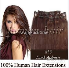 22 inch hair extensions 22inch clip remy hair extension 33 auburn color 80gram