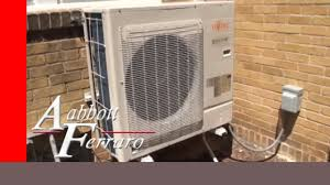 fujitsu wall mounted air conditioner fujitsu ductless mini split system installed in st paul youtube