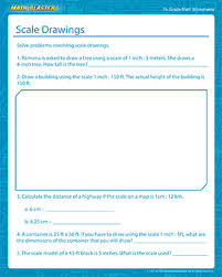scale drawings free math printables for 7th grade math blaster