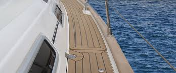 synthetic teak marine decking cooler to touch than teak
