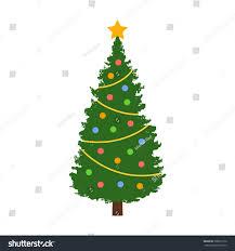 tree decorations flat icon stock vector 398077270