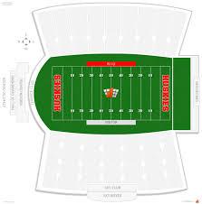 Dekalb Illinois Map by Huskie Stadium Niu Seating Guide Rateyourseats Com