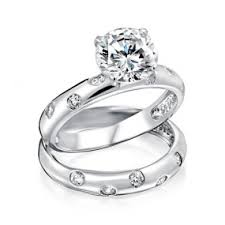 silver wedding rings unique engagement rings sterling silver cz engagement ring sets
