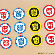 FREE Printable Transformers Cupcake Toppers …