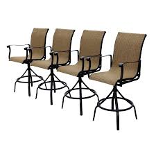 Bar Height Swivel Patio Chairs Shop Allen Roth Safford Brown Aluminum Patio Barstool Chair At