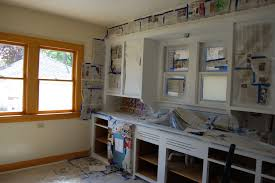 remodel kitchen design with white painting oak kitchen cabinets