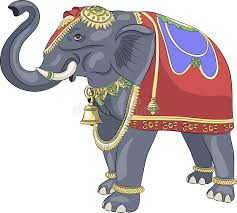 vector decorated indian elephant stock vector image 66820180