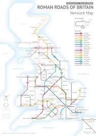 Las Vegas Transit Map by Britain U0027s Ancient Roman Roads In Wonderful Transit Style Map